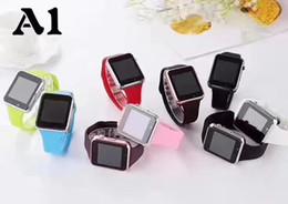 A1 smart watch bluetooth uhren niedrigen preis tragbare männer frauen smart armband handy mit kamera für android ios telefon 8 farben von Fabrikanten