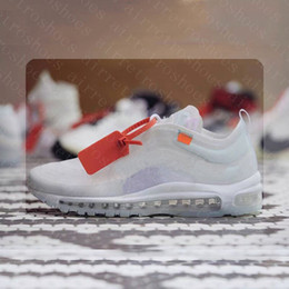 Wholesale Icing Shoes - (With Original Box) air 97 x Off The Ten Running Shoes White Cone Ice Blue Off Men Womens Outdoor Sneakers Shoe size 36-45