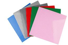Wholesale Black Plastic Blocks - 7 Colors Blocks Base Plate Building Blocks DIY Education Toys 32x32 Dots Black Bricks Base Compatible With Major Brand Toys