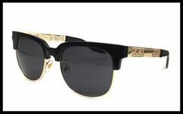 Wholesale Italy Man Glasses - 2018 summer style italy medusa sunglasses half frame women men brand designer 100% uv protection sun glasses clear lens and coating