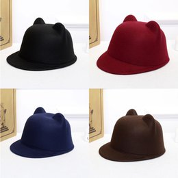 9d3b4a353a698 2019 sombreros pequeños 2018 Mujeres Clásico Clásico de la vendimia Señoras  Retro Fedoras Cubo Casual Algodón