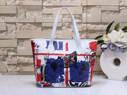 Wholesale Vogue Ties - New Vogue Style Women's Graffite Handbags Shoulder Tote Bag Mother Bag Handbag 5 Colors Large size Free Shipping