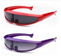 óculos coloridos frescos Desconto Cool X-Men Robôs Laser Óculos De Sol Dos Homens Espelho Colorido Conjoined Lens Óculos de Sol Óculos de Condução À Prova de Vento Óculos UV400