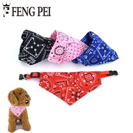 Wholesale Pink Dog Scarf - Pet Collars Lovely Adjustable Printing Puppy Necklace Scarf Collar dog bandana Collar Neckerchief collare cane Goods for pets