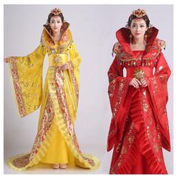Gola das mulheres do temperamento nobre trailing vestido a rainha da dinastia tang vestuário chinês antigo traje vestido hanfu de