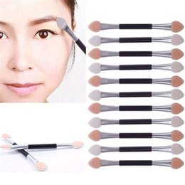 Wholesale disposable lip - 12Pcs Cosmetic Brushes Women Makeup Eyeshadow Eyeliner Sponge Lip Brush Set Applicator Beauty Double-Ended Disposable HB213