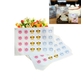 cookie stickers Coupons - New 240pcs lot Cute Dog Sealing Sticker Baking Packs Cat Pattern Packaging for Cookies Gift Bags Biscuit Cookie Bag