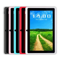 Wholesale cheap android tablets wholesale - Q88 7 Inch Android 4.4 Tablet with keyboard case PC ALLwinner A33 Quade Core Dual Camera 8GB 512MB Capacitive Cheap Tablets