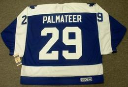 topo de bordo Desconto Homens Mulheres Juventude MIKE PALMATEER Toronto Maple Leafs 1978 CCM Vintage voltar Hóquei Jersey Goalie Cut Top-qualidade Qualquer Nome Qualquer Número