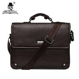 "Wholesale Office Leather Bags For Women - DIOULAORENTOU Brand 13"" Pu Leather Laptop Bag 2017 Cover Handbag High Quality Mens Business Bag Male Office Briefcase for Men"