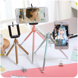 Wholesale telescopes digital cameras - Mini camera phone holder Tripod telescope tripod desktop photography tripod small digital SLR camera bracket stand for iphone X 8 samsung