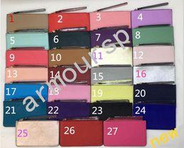 Wholesale Faux Fur Clutch - brand designer wallets wristlet women purses clutch bags zipper pu design wristlets 27 colors