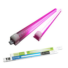 Wholesale T8 Led Grow Tube - T8 Led For Plant Grow Light Bar Lamp Seedling Succulent Flowering Hydroponics Plant Indoor t8 Plants Tube Red&Blue drop-ship service