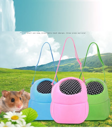 Wholesale Hutch Cage - Cute Small Animal Carrier Pet Hamster Crate Pet Cage Breathable Pet Travel Single Shoulder Bag 3 Sizes