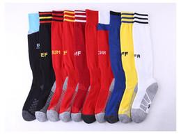 Wholesale boys striped - 2018 FIFA World Cup Soccer Socks Professional Club Football Thick Warm Socks Knee High Training Long Stocking Skiing Socks Team Adult Sock