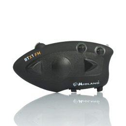 Wholesale Bicycle Parts Headset - BTX1 Paired Multi Motorcycle Bluetooth Intercom Portable Motocross Bicycle Helmet Headset Interphone Headphones Motorbike Parts