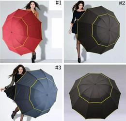Wholesale Men Umbrella Folding - Large Outdoor Umbrellas 130cm Big Umbrella Folding Umbrella Windproof Large Paraguas Women Men 3 Floding Sun Rain Umbrellas 20pcs