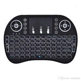 Mouse sem fio bluetooth para android on-line-Mini Teclado Remoto Sem Fio Bluetooth Touchpad Mouse / Teclado de Ratos para PC Android Smart TV 2.4 GHz Recarregável