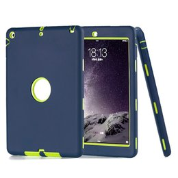 plastic hard robot case defender Promo Codes - 3 in 1 Defender Robot Heavy Duty Shockproof Soft Silicone Rubber Hard PC Cover Case For New iPad 2017 Pro 9.7 PCC072
