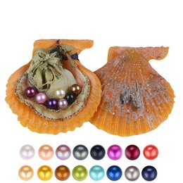 Wholesale Oyster Shell Jewelry - 2018 DIY Seawater Red shell Pearls In Oysters 25 Colors Pearls Oyster Pearls With Vacuum-Packing Luxury Jewelry Birthday Gift For Women