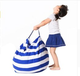 Wholesale Beanbag Free Shipping - Kids Storage Bean Bags 43 colors Plush Toys Beanbag Chair Bedroom Stuffed Animal Room Mats Portable Clothes Storage Bag DHL Free Shipping