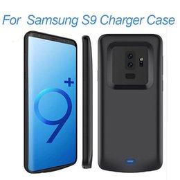 Wholesale galaxy extended battery - for Samsung Galaxy S9 plus Battery Case Portable Rechargeable Extended Charger Case For Samsung S9 Protective Battery Pack Charging Case