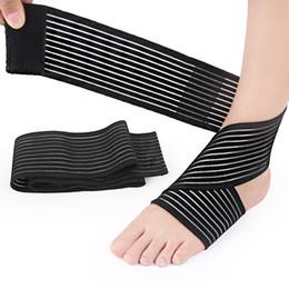Cinghie di piede online-2018 Sport Proteggi caviglia uomo donna piede cinghie in nylon Basketball Football Running bende bracciali protezioni caviglia