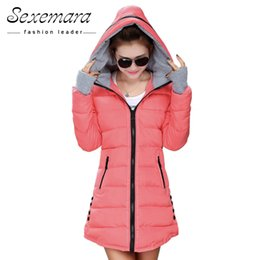 c25ebb97c7f 12 Colors Women Plus Size Female Hoodie Hooded Autumn Winter Long Sleeve Down  Parka Slim Casual Quilted Chaquetas Jacket Coat Y18103101