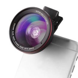 filtro recubierto Rebajas Súper Multi-coated Clip 0.6X Wide AngleMacro Filtro de lente de cámara para iPhone Samsung Teléfono móvil inteligente