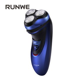 Wholesale Male Pop - Wholesale-RUNWE Rechargeable Electric Razor For Men's Shaver 3D Floating Head Shaving machine with Pop-up Trimmer Rs958 Face Care Razor