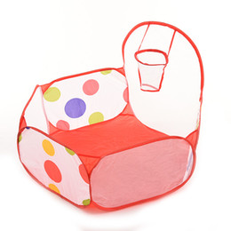 Wholesale Baby Bath Cloth - ZTOYL 1Pcs Kid Play Tent Ball Pit Pool with Basketball Hoop Red Zippered Storage Bag for Baby Pets Playpen Toy of Bath ball pool