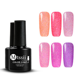 Gel di chiodo nero per gel online-Mtssii 6 Bottiglia / set 7ml UV Chameleon Gel Black Gel Set Holographic Polish Starry Platinum Glitter Shinny Smalto per unghie