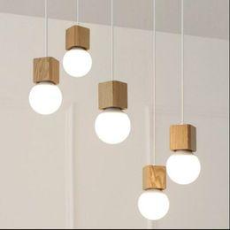 Decorazione luci soffitto online-Lampada a sospensione vintage Lampada da tavolo in legno moderna lampada corlorful socke vintage soffitto interno Lampada a sospensione decorata senza lampadina