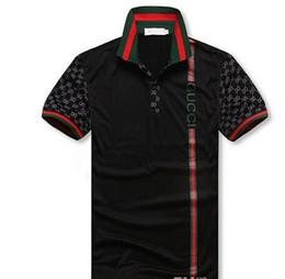 Chemise anime xxl en Ligne-Vente chaude 2019 Nouveau G G Mode hommes été Euro US loisir pantalon collocation revers POLO t-shirts pour hommes Italie polo shirt