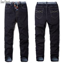 Wholesale Jeans Large Hip Hop - Sea Cloud Free shipping men jeans male straight plus size 28-48 long trousers loose man hiphop pants extra large hip hop