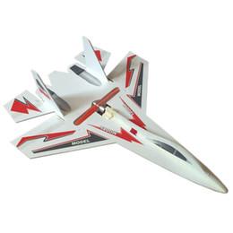 Chorros de kit online-Alta velocidad llevó avión rc su 27 modelo jet rc 6CH avión de control remoto romper la junta espuma resistente juguetes rc planeador