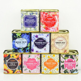 Wholesale Tea Gift Tins Wholesale - New Metal Portable vintage Tea Tins Lids Container Gifts Boxes for wedding favor promotion gift package