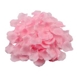 flores para decorações do casamento Desconto 500 pçs / set decoração de casamento pétalas de rosa romântico artificial pétalas de flores de seda para decorações do partido