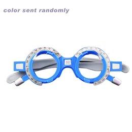 3247feabe4 2019 lentes de montura de gafas de plástico Lentes de prueba ópticos  ajustables Montura 52-
