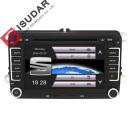 Wholesale Automotive Window Screens - Isudar Car Multimedia player GPS 2 Din Autoradio For Seat  Leon Altea  Toledo VW Skoda Wifi FM Radio Map Ipod Capacitive Screen