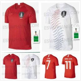 Wholesale quality h - 2018 World Cup jersey H M SON S Y KI soccer jerseys home away H M SON national team football shirt TOP THAI QUALITY
