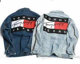 Wholesale vintage jean jackets - Designer Luxury Brand Men's Denim Jacket Fashion Jeans Jackets Slim Fit casual Streetwear Vintage Mens Jean Jacket Clothing