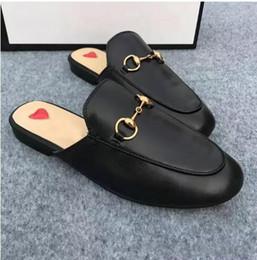 Canada Taille Euro 35-41 Femmes Mocassins Toe toe Pantoufles d'été en cuir véritable avec boîte cheap nubuck loafer Offre