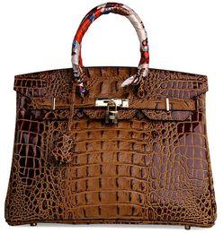 bolsa de crocodilo genuína Desconto Sacos de ombro de crocodilo em relevo avestruz atacado noiva mulheres bolsa tote senhora bolsa Au UK FranceTogo bolsa de couro genuíno Paris EUA EUR