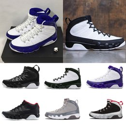 Wholesale pink rose canvas - 2018 Men Basketball Shoes 9 9s Cool Grey Black White Red Anthracite Barons The Spirit doernbecher release Sneakers boots size 8-13