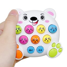 jouets électroniques interactifs Promotion Mole Hamster Attack Jouet Électronique Musique Lumière Enfants Bébé Éducation Précoce Jeu D'apprentissage Jouet Mini Intelligent Interactive Jouets
