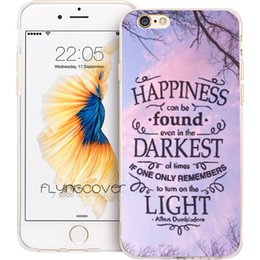Wholesale Harry Potter Iphone 4s - Coque Harry Potter Quotes Clear Soft TPU Silicone Phone Cover for iPhone X 7 8 Plus 5S 5 SE 6 6S Plus 5C 4S 4 iPod Touch 6 5 Cases.
