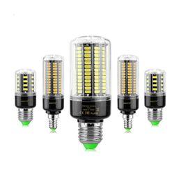 Wholesale Led E14 8w Corn - 1Pcs 5736 SMD More Bright 5730 5733 LED Corn lamp Bulb light 3.5W 5W 7W 8W 12W 15W E27 E14 85V-265V No Flicker Constant Current