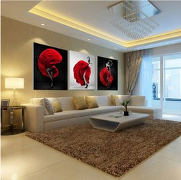 Wholesale Sexy Oil Painting Canvas - Unframed 3 Pieces Sexy Lady Figure Wall Art Picture Printed Oil Painting by Numbers High Quality Home Decor