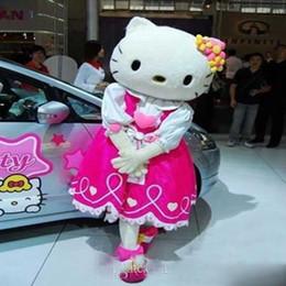 Wholesale Movie Apparel - Discount factory sale hello kitty cat cartoon costume Mascot Costume, Hello Kitty Cat Character Costumes Apparel Adult Size.